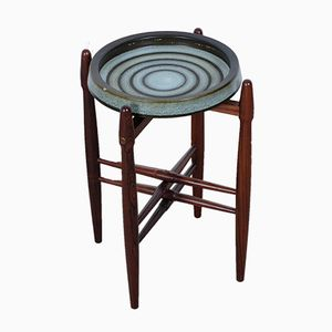 Mid-Century Rosewood Ashtray Table by Poul Hundevad for Vamdrup