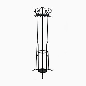 Art Nouveau Wrought Iron Coat Rack, 1910s