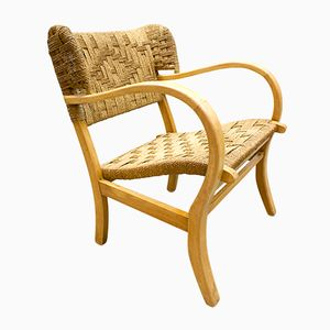 Vintage Rope Wingback Chair
