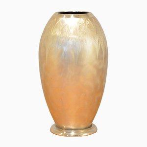 Vase Ikora Art Déco en Métal Brossé de WMF, Allemagne