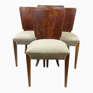 H-214 Dining Chairs by Jindřich Halabala for UP Zavody, 1940s, Set of 4