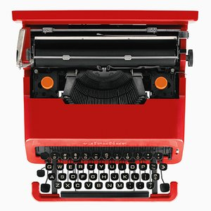 Vintage Portable Valentine Typewriter by Ettore Sottsass & Perry A. King for Olivetti