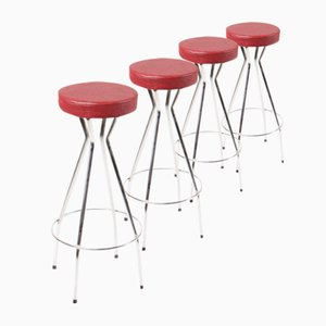 Mid-Century Bar Stools, 1960s, Set of 4