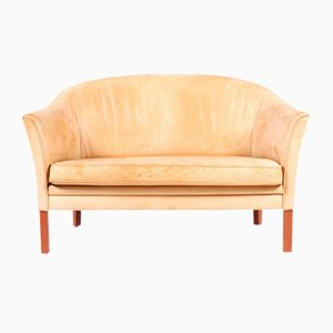 Tan Loveseat by Mogens Hansen, 1980s