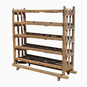 Vintage Industrial English Shoe Storage Trolley