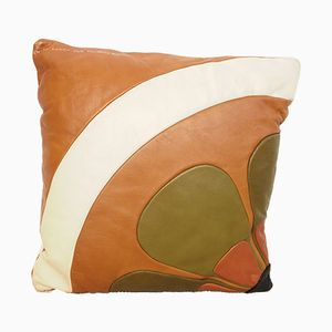 Handcrafted Leather Cushion by Ennio Lucini for Poltrona Frau, 1970s