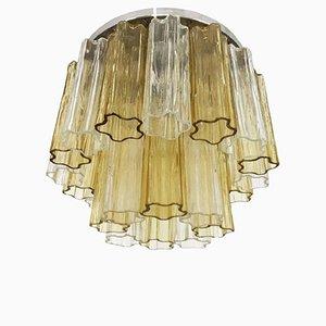 Tronchi Glas Deckenlampe von Venini, 1960er
