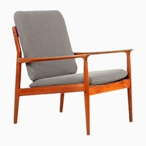 Vintage Teak Armlehnstuhl von Grete Jalk für Glostrup