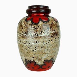 Vintage Floor Vase with Fat Lava Glaze from Scheurich