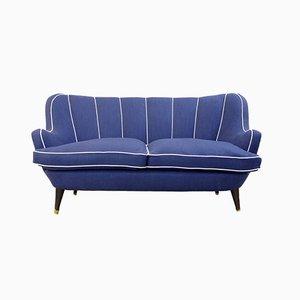 Königsblaues Italienisches Vintage Sofa