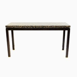 Vintage Granite & Wooden Console