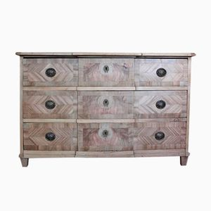 Antique German Bleached Walnut Commode