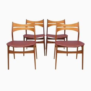 Rosewood and Teak Dining Chairs by Erik Buch for Andersen Møbelfabrik, Set of 4