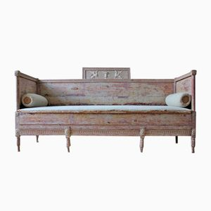 Antique Gustavian Swedish Painted Bench