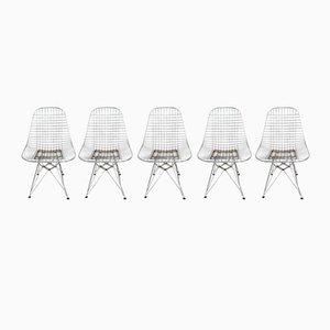 DKR Eiffel Base Wire Chairs by Charles & Ray Eames for Vitra, Set of 5