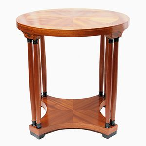 Art Nouveau Mahogany Veneer Round Side Table