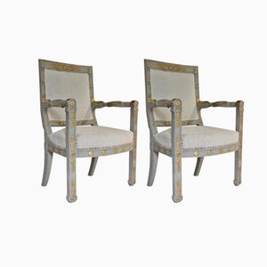 Italian Armchairs, 1820s, Set of 2