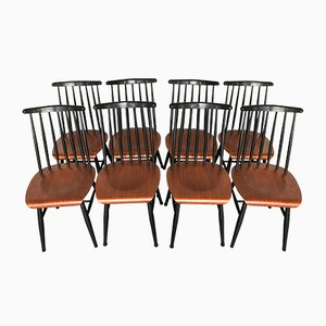 Fanett Teak Chairs by Ilmari Tapiovaara, 1960s, Set of 8