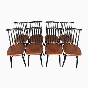 Fanett Teak Stühle von Ilmari Tapiovaara, 1960er, 8er Set