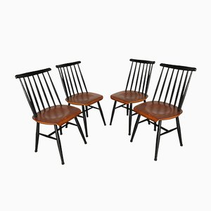 Fanett Teak Chairs by Ilmari Tapiovaara, 1960s, Set of 4