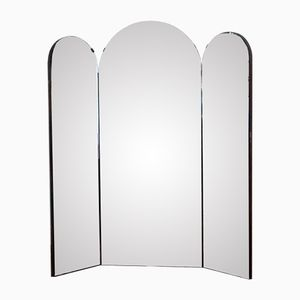 Italienischer Mid-Century Triptychon Spiegel