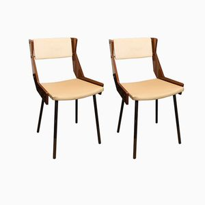 Italian Chairs by Gianfranco Frattini, 1950s, Set of 2