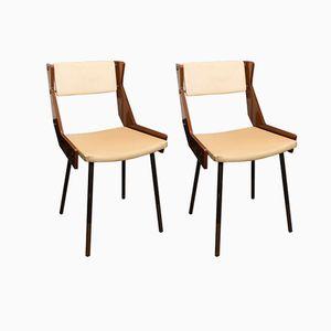 Italienische Stühle von Gianfranco Frattini, 1950er, 2er Set