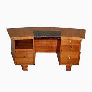 Gebogener Art Deco Schreibtisch