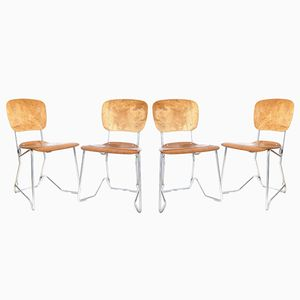 Vintage Stacking Chairs by Armin Wirth for Aluflex, Set of 4