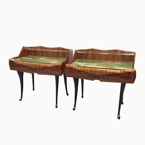 Italian Rosewood Nightstands, 1950s, Set of 2