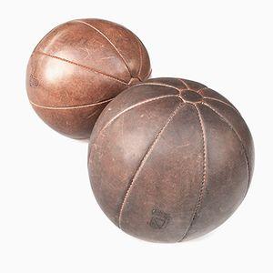 Vintage Medicine Ball with Zurich City Crest