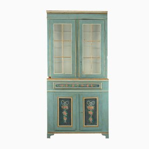 Gustavian Corner Cupboard with Display Case