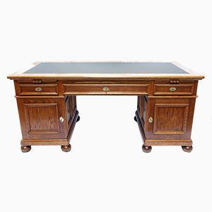 Freistehender Vintage Eichenholz Schreibtisch