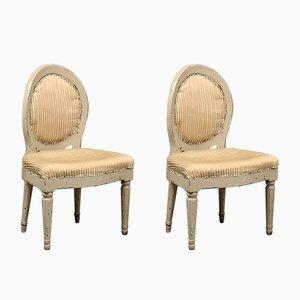 Antike Schwedische Beistellstühle, 2er Set