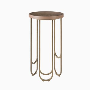 SU Soft Finish Brass Side Table by Begum Cemiloglu and Ekin Varon for 15 West Studio