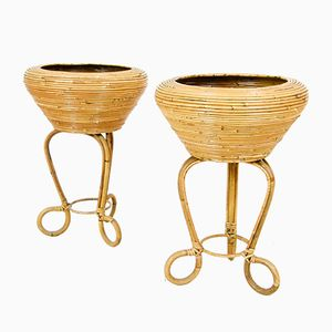 Vintage Italian Plant Stands, 1960s, Set of 2