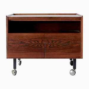 Danish Rosewood Rolling Bar by Arne Vodder for Sibast, 1960s