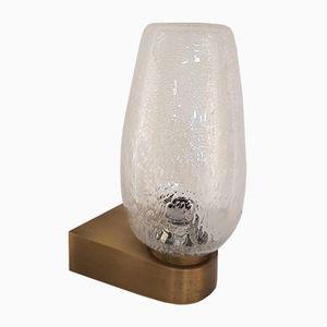 Vintage Wandlampen aus Gebürstetem Messing & Glas, 1960er, 3er Set