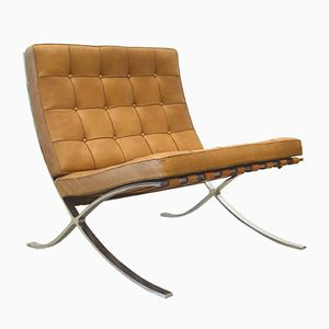 Vintage Barcelona Chair by Mies van der Rohe for Knoll International, 1960s