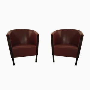 Italian Club Lounge Chairs from Moroso, 1993, Set of 2