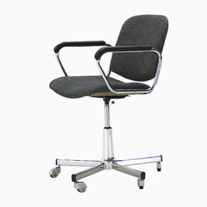 Height-Adjustable Office Chair with Armrests, 1960s