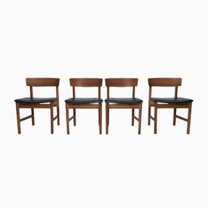 Dining Chairs by Børge Mogensen for Fredericia Furniture, 1960s, Set of 4