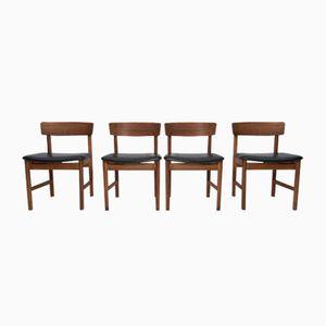 Esszimmerstühle von Børge Mogensen für Fredericia Furniture, 1960er, 4er Set