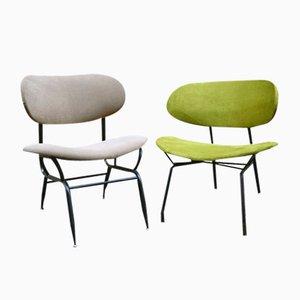 Italienische Lackierte Stühle aus Metall, 1950er, 2er Set