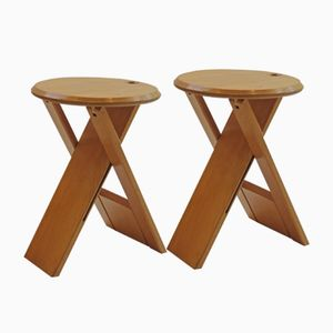 Beech Suzy Stools by Princes Design Works, 1985, Set of 2