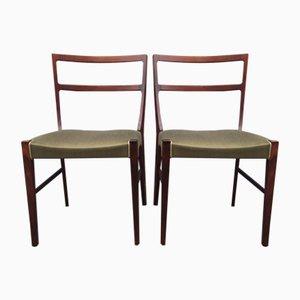 Mid-Century Danish Rosewood Side Chairs by Bernhard Pedersen & Son, Set of 2