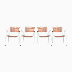 Stackable Danish Marguerite Garden Chairs by BKS, 1960s, Set of 4