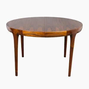 Danish Rosewood Extending Dining Table by Ib Kofod-Larsen for Faarup Møbelfabrik