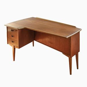 Mid-Century Modern Boomerang Desk by Peter Nielsen for Hedenstedt