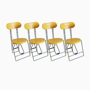 Cricket Stühle in Gelb & Scgwarz von Andries Van Onck & Kazuma Yamaguchi für Magis, 1983, 4er Set